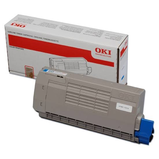 Oki Cyan Laser Toner Cartridge, 11.5K Yield