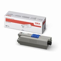 Oki Cyan Laser Toner Cartridge, 2K Page Yield