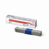 Oki High Capacity Cyan Laser Toner Cartridge, 5K Page Yield