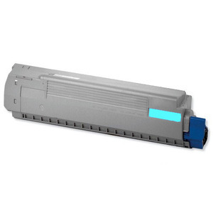 Oki 44844505 Cyan Toner Cartridge, 10K Page Yield