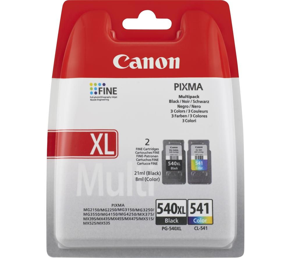 Canon PG-540XL & CL-541 Black and Color Ink Cartridges - 5222B012