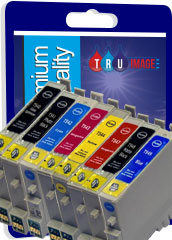 Premium Quality Compatible Set of 8 Ink Cartridges for Epson R800 and R1800