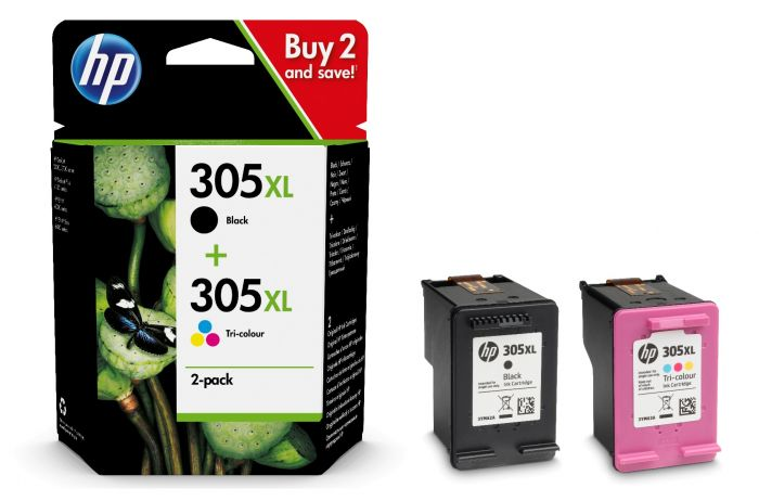 Black & Tri Colour HP 305XL Ink Cartridge Multipack - 6ZA94AE
