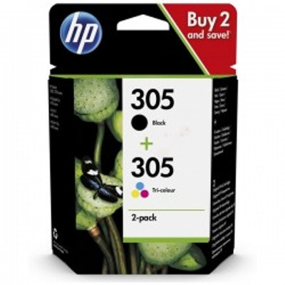 Black & Tri-Colour HP 305 Ink Cartridge Multipack - 6ZD17AE