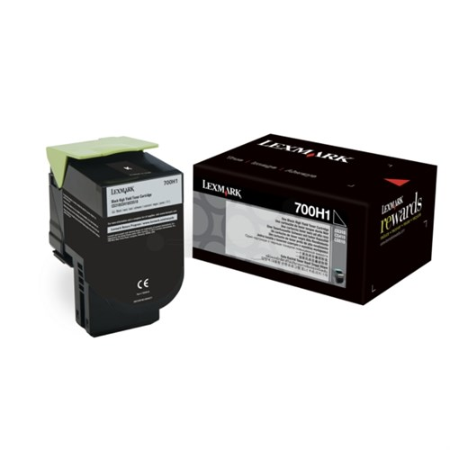 Lexmark 700H1 High Capacity Black Toner Cartridge, 4K Page Yield