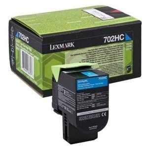 Lexmark 702C Return Program Cyan Toner Cartridge, 1K Page Yield