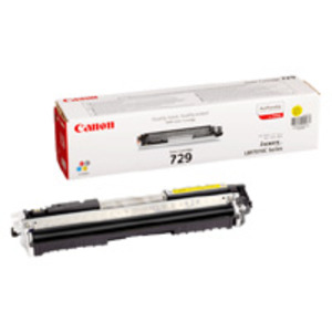 Canon 729 Yellow Laser Toner Cartridge - 4367B002AA, 1K Page Yield