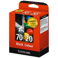 Lexmark New Higher Capacity No 70 Black & No 20 Colour Ink Cartridges