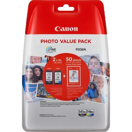 Canon PG-545XL / CL-546XL Photo Value Pack Black and Colour