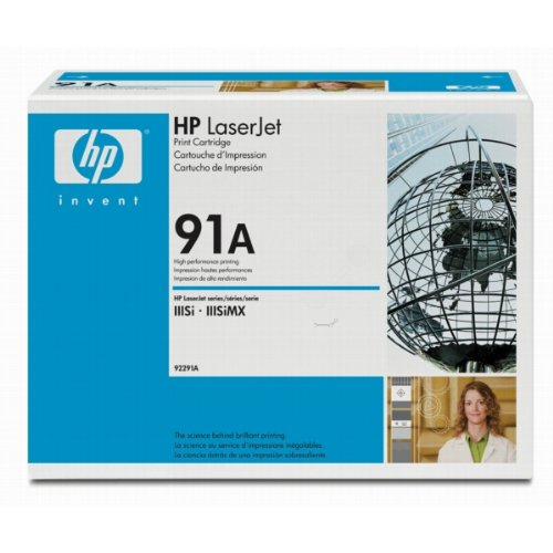 HP No 91A Laser Toner Cartridge, 10.2K Page Yield
