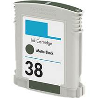 Replacement 38 Matte Black Pigment Ink Cartridge for C9412A