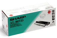 Sharp AL-80TD Laser Toner Cartridge, 3K Yield