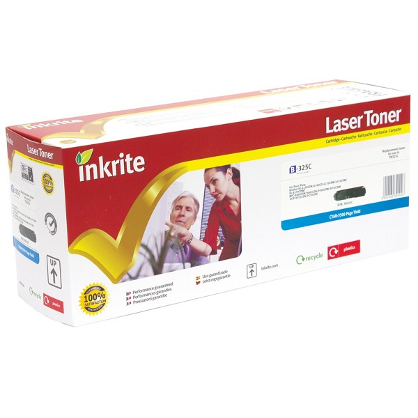 Inkrite Premium Quality Cyan Toner Cartridge for Brother - TN-328C