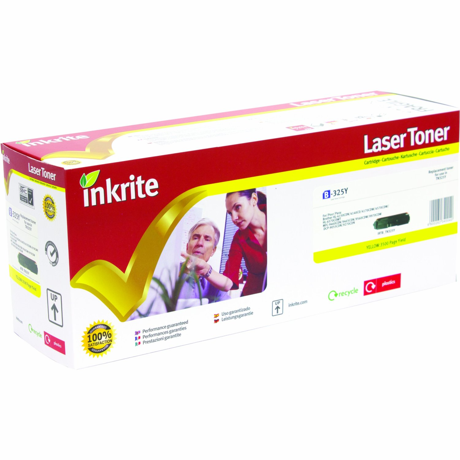 Inkrite Premium Quality Yellow Toner Cartridge for Brother - TN-328Y