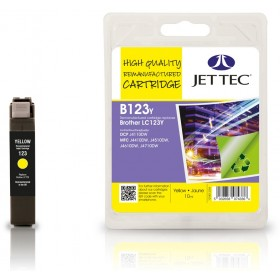 Jet Tec LC-123 Yellow Ink Cartridge