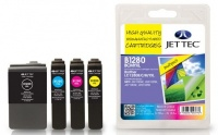 Jet Tec Quad Pack LC-1280 Black, Cyan, Magenta, Yellow Ink Cartridges