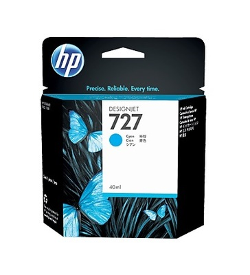 HP 727 Cyan Ink Cartridge - B3P13A