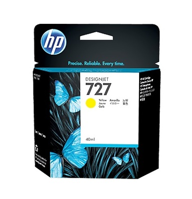 HP 727 Yellow Ink Cartridge - B3P15A