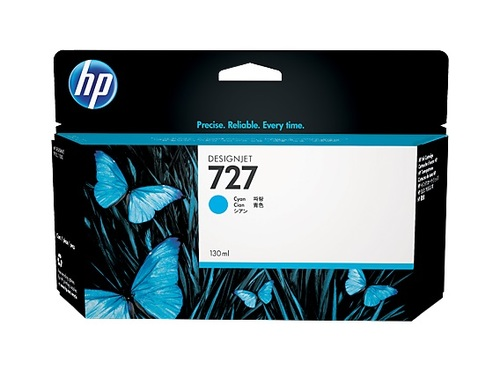HP 727 High Capacity Cyan Ink Cartridge - B3P19A