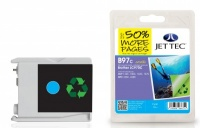 Jet Tec LC-970 Cyan Ink Cartridge, 10ml
