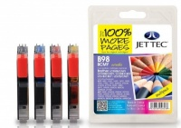 Jet Tec Quad Pack LC-980 / LC-1100 Black, Cyan, Magenta, Yellow Ink Cartridges