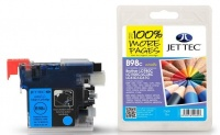 Jet Tec LC-980 / LC-1100 Cyan Ink Cartridge, 10ml