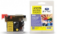 Jet Tec LC-980 / LC-1100 Yellow Ink Cartridge, 10ml