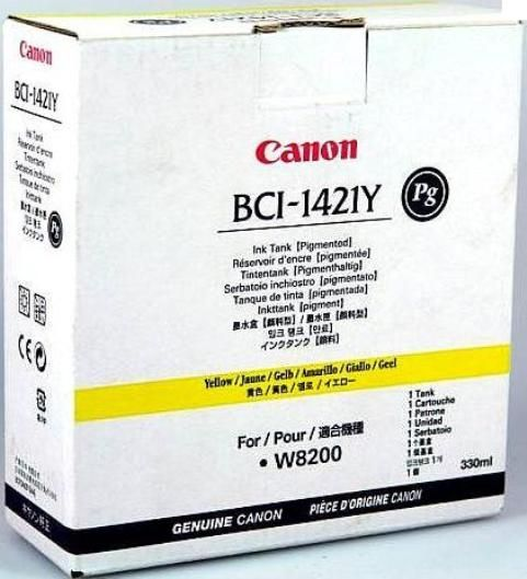 Canon BCI1421Y Pigmented Yellow Ink Cartridge, 330ml