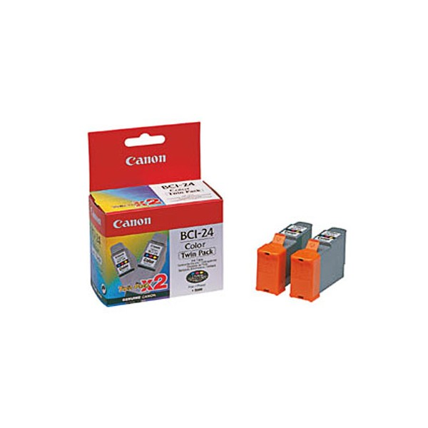 Canon BCI-24 Twin Pack Colour Ink Cartridges ( 24 Color )