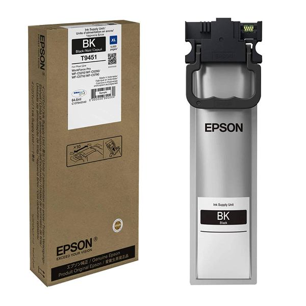 Genuine Black Epson T9451 High Capacity Ink Cartridge - C13T945140