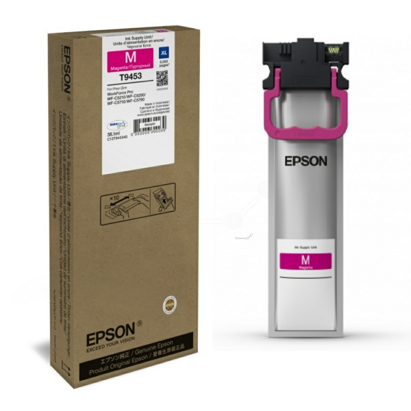 Genuine Magenta Epson T9453 High Capacity Ink Cartridge - C13T945340