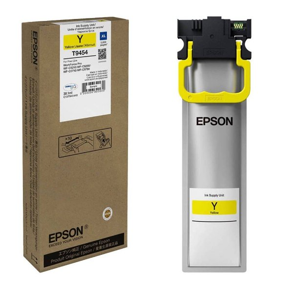 Genuine Yellow Epson T9454 High Capacity Ink Cartridge - C13T945440