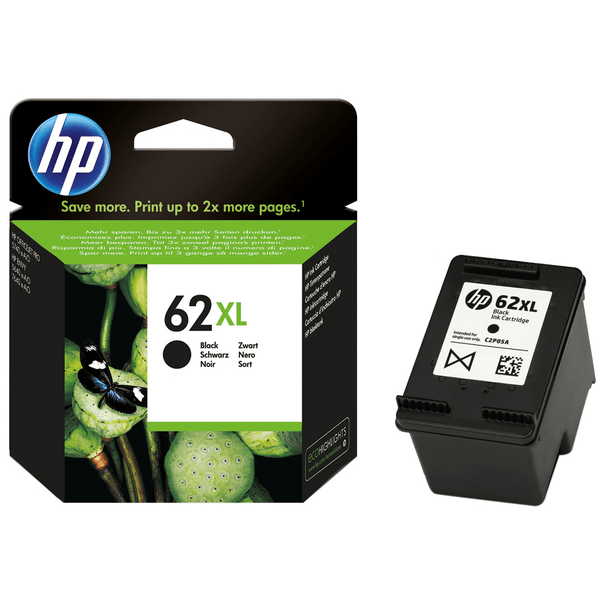 HP 62XL Ink Cartridge High Capacity Black - C2P05A Cartridge