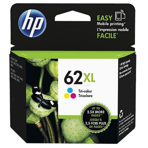 HP 62XL Ink Cartridge High Capacity Colour - C2P07A Cartridge