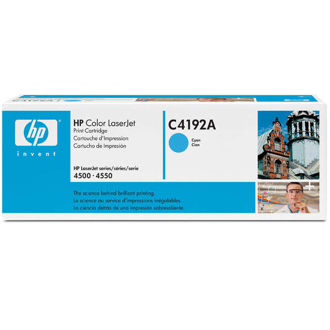 HP 92A Cyan Toner Cartridge - C4192A