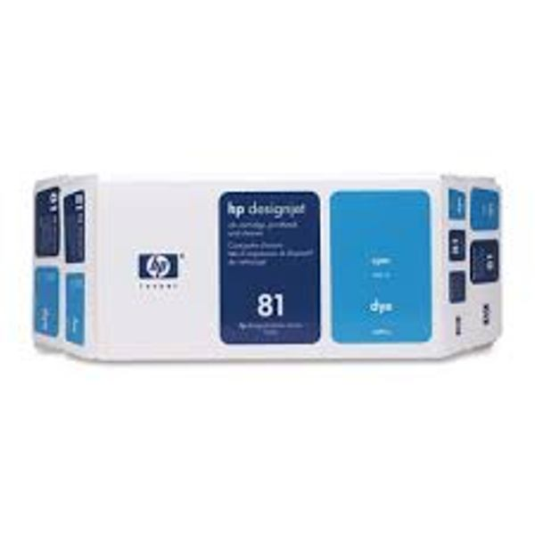 HP 81 Dye Light Cyan DesignJet Value Pack ( Ink Cartridge, Printhead & Printhead Cleaner) C4994A