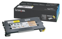Lexmark 0C500S2YG Standard Capacity Yellow Toner Cartridge, 1.5K Page Yield