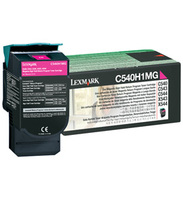 Lexmark C540H1MG High Capacity Return Program Magenta Toner Cartridge, 2K Page Yield