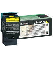 Lexmark C544X1YG Extra High Capacity Return Program Yellow Toner Cartridge, 4K Page Yield