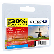 Jet Tec BCI-6 Cyan 30% Extra Ink Cartridge, 17ml