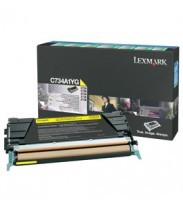 Lexmark C734A1YG Return Program Yellow Toner Cartridge, 6K Page Yield
