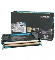Lexmark C736H1CG High Capacity Cyan Return Program Toner Cartridge, 10K Page Yield