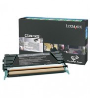Lexmark C736H1KG High Capacity Black Return Program Toner Cartridge, 12K Page Yield