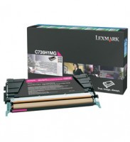Lexmark C736H1MG High Capacity Magenta Return Program Toner Cartridge, 10K Page Yield