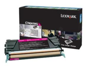 Lexmark C746A1MG Magenta (Return Program) Toner Cartridge, 7K Page Yield