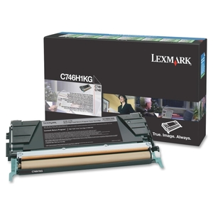 Lexmark C746H1KG Black (Return Program) Toner Cartridge, 12K Page Yield