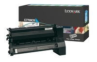 Lexmark C7700CS Return Program Cyan Toner Cartridge, 6K Page Yield