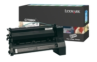 Lexmark C7700KH High Capacity Return Program Black Toner Cartridge, 10K Page Yield