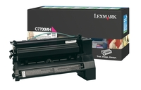 Lexmark C7700MS Return Program Magenta Toner Cartridge, 6K Page Yield
