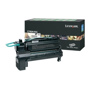 Lexmark C792A1KG Black (Return Program) Toner Cartridge, 6K Page Yield